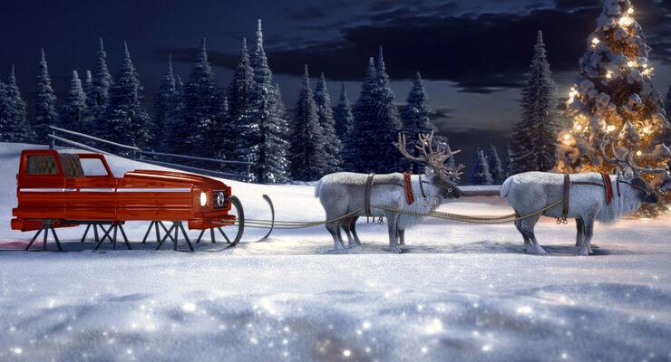 Weihnachten Schlitten