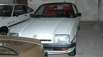 Weisser Opel Manta von vorne