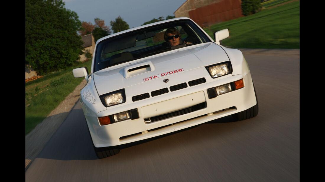 Weißer Porsche 924 Carrera GT - Front