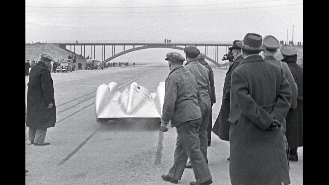 Weltrekordfahrt 1939, Start, Heckansicht