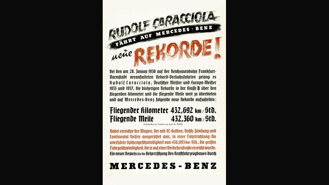 Weltrekordfahrt 1939, Werbeplakat
