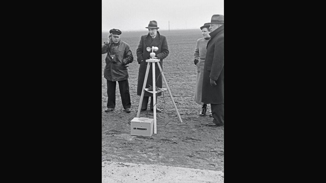 Weltrekordfahrt 1939, Windmessung