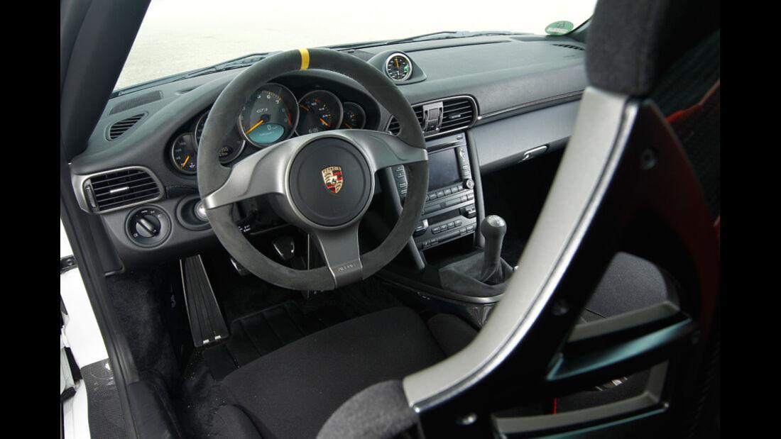 Wendland-Porsche 997 GT3 WRS 510, Cockpit, Lenkrad