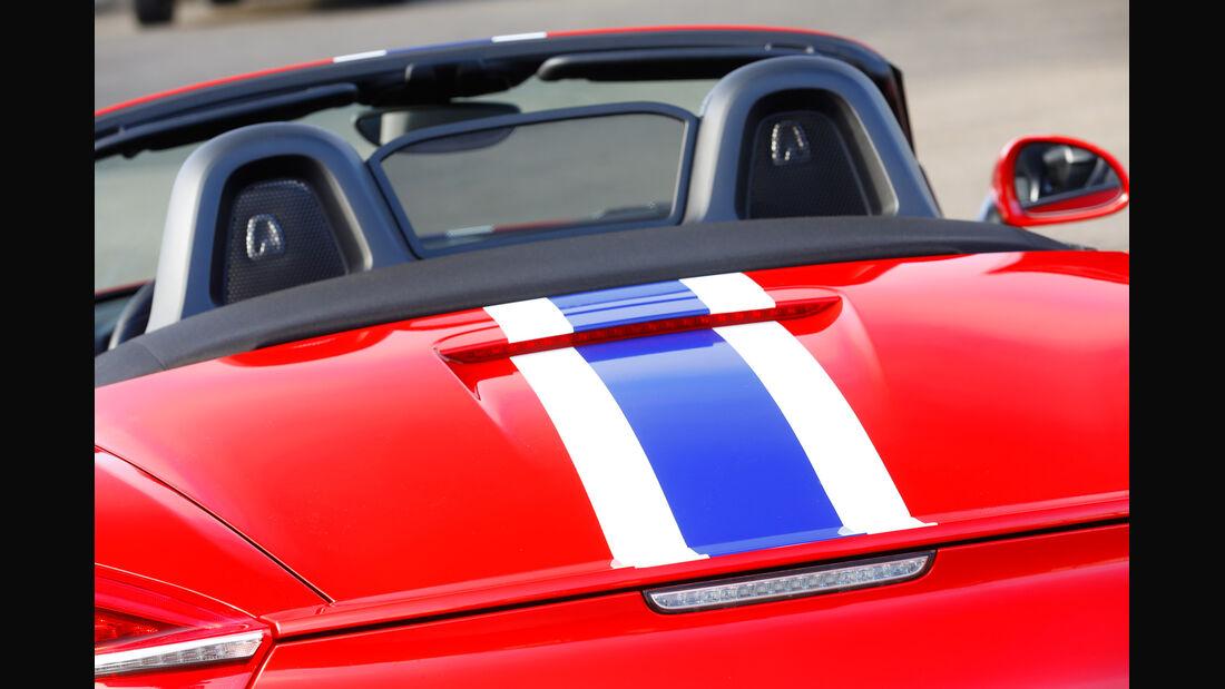 Wendland-Porsche Boxster S, Heckansicht, Kopfstützen