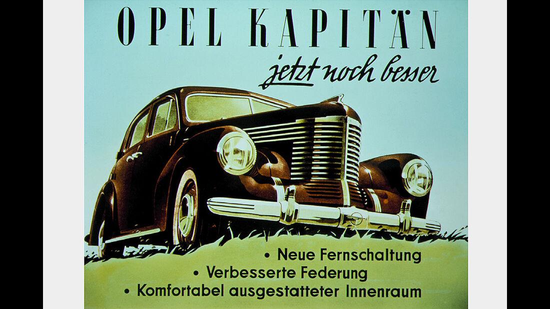 Werbeanzeige Opel Kapitän, 1948