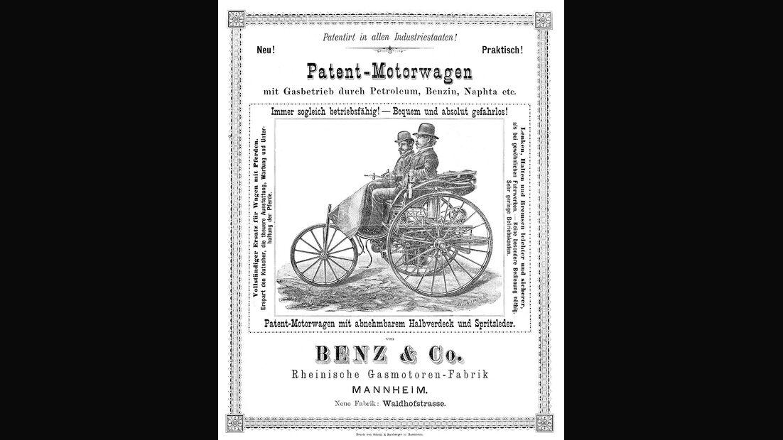 Werbeplakat Benz Patent-Motorwagen