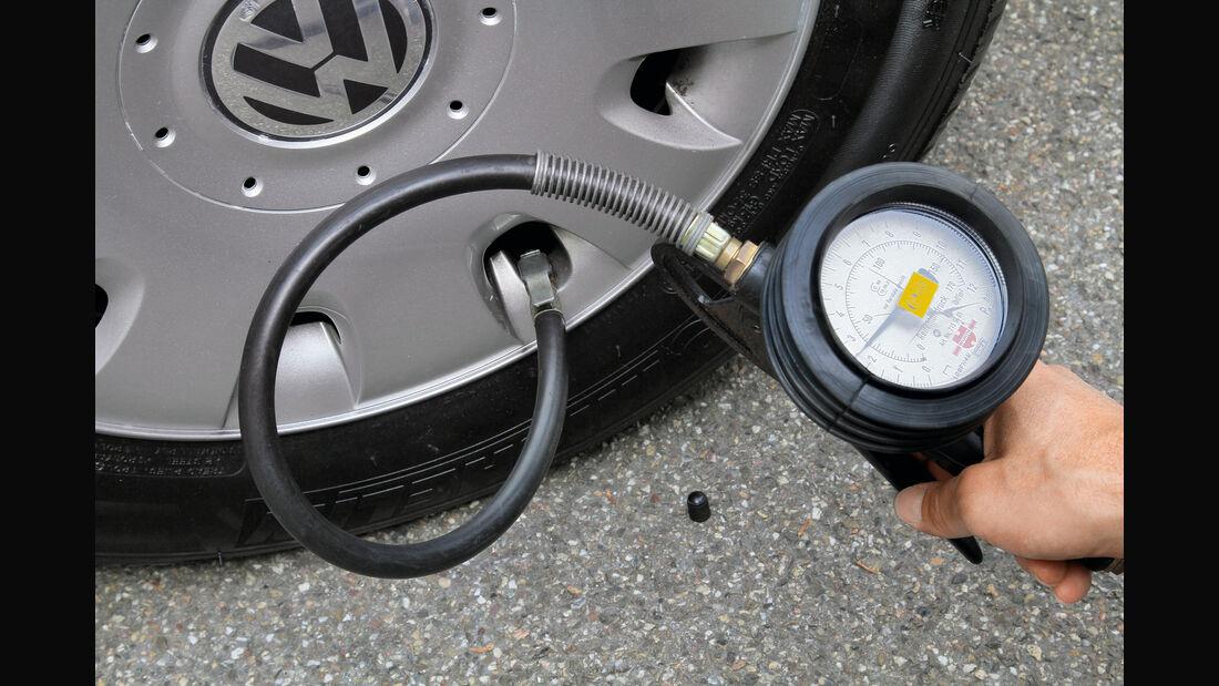 Werkstättentest, Reifenfülldruck