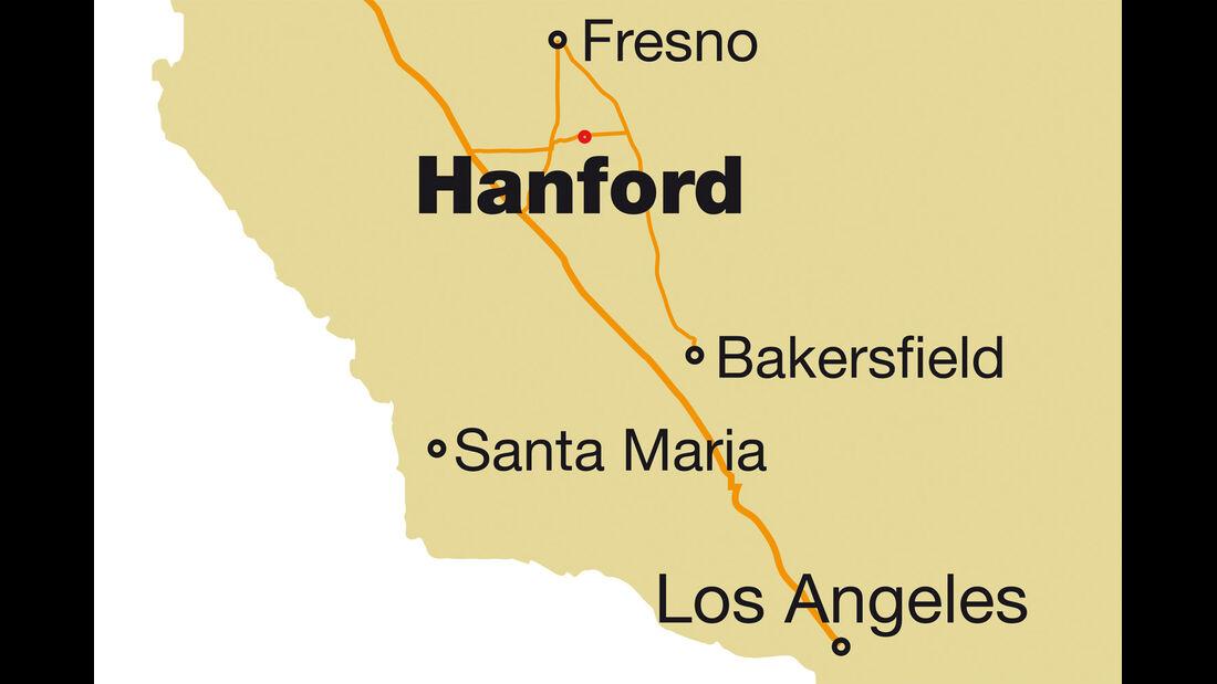 West Coast Sprint Cars, Strecke, Landkarte