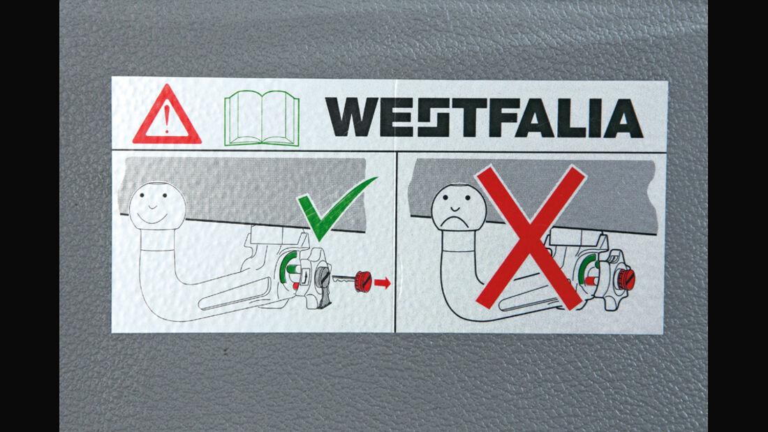 Westfalia, Aufkleber, Anweisung