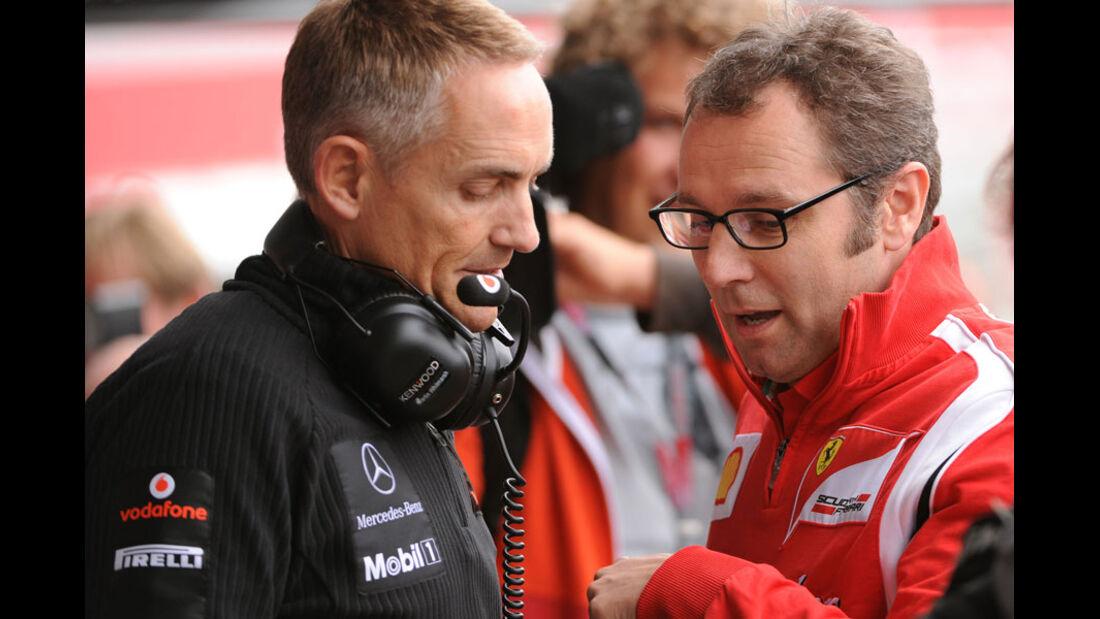 Whitmarsh Domenicali GP England 2011