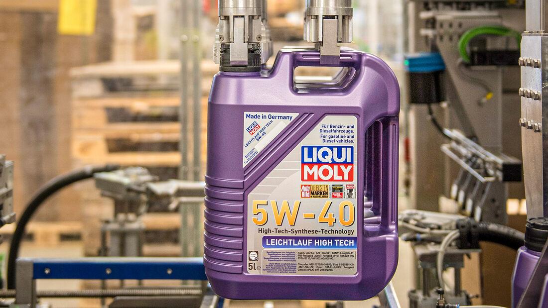Wie entsteht Motoröl, Abfüllen
