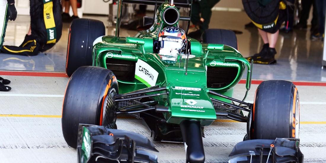 Will Stevens - Caterham - Formel 1-Test - Silverstone 2014