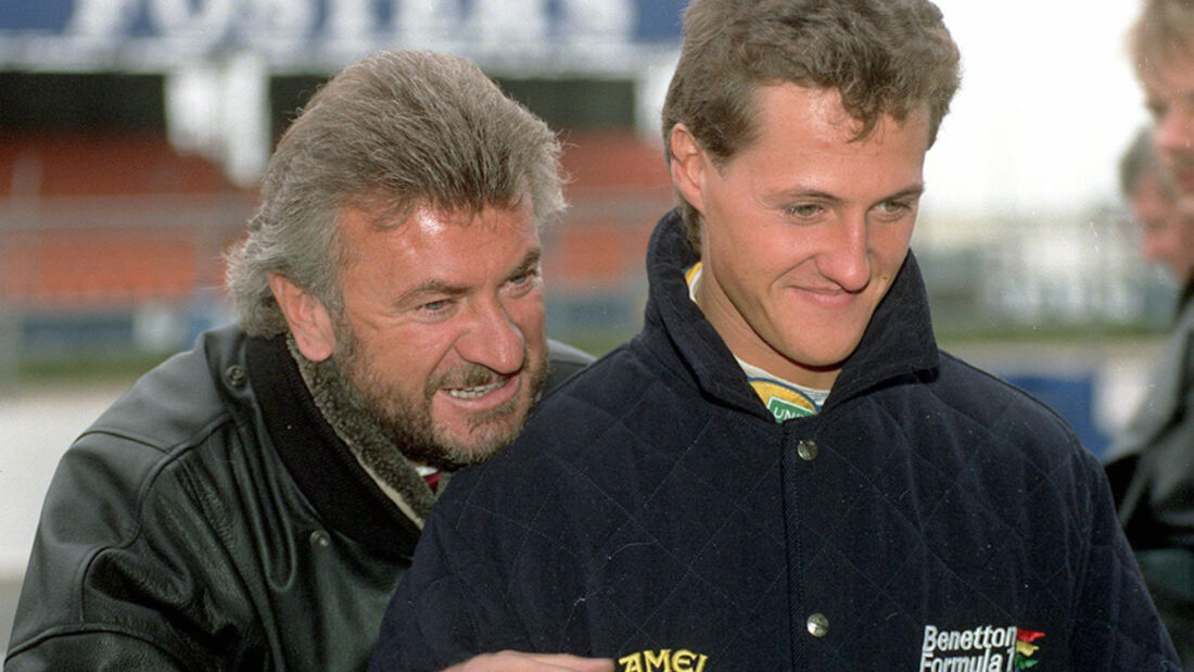 Willi Weber & Michael Schumacher (Benetton)
