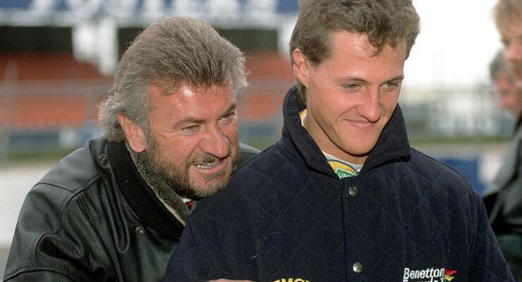 Willi Weber & Michael Schumacher (Benetton)