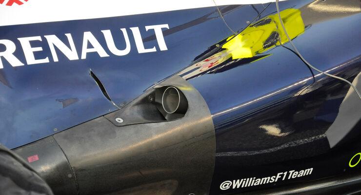 Williams-Auspuff GP Abu Dhabi 2013