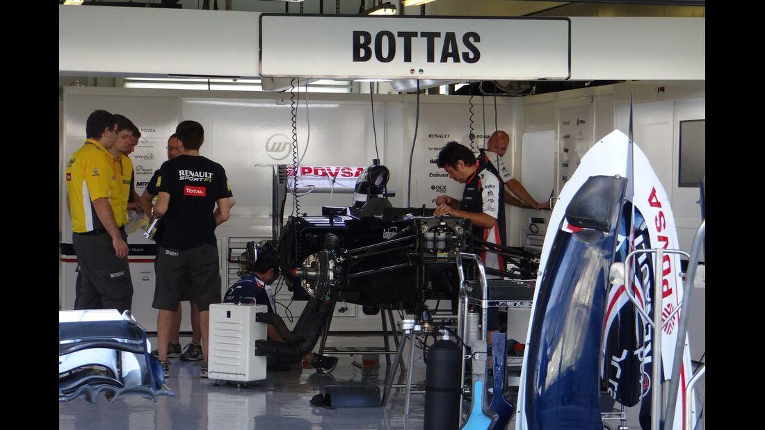 Williams Box Valtteri Bottas - Formel 1 - GP Abu Dhabi - 01. November 2012