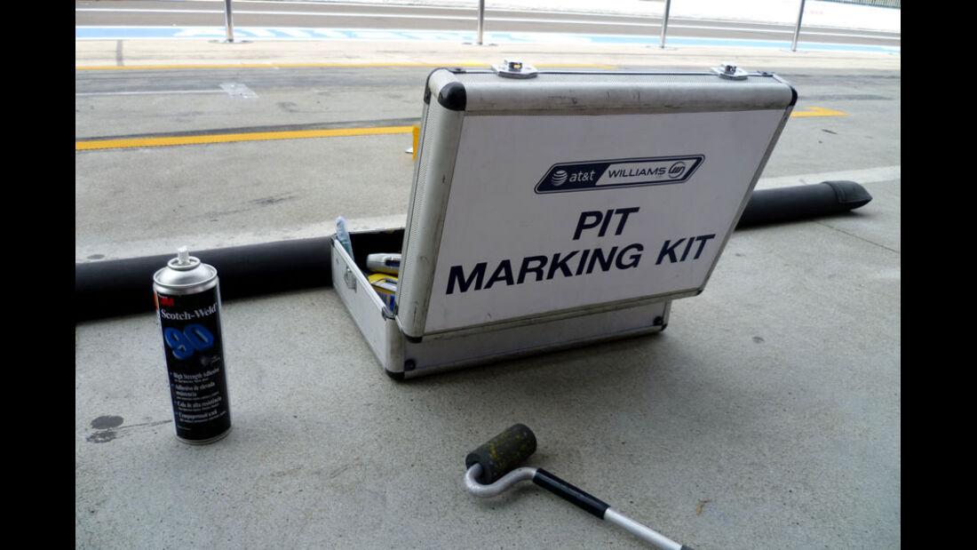 Williams Boxen-Kit - GP Italien - 8. September 2011