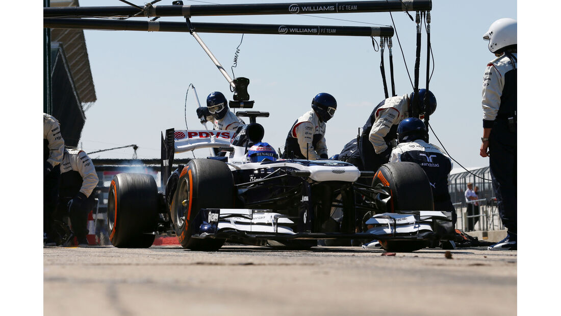 Williams - Boxenstopp - Formel 1 2013