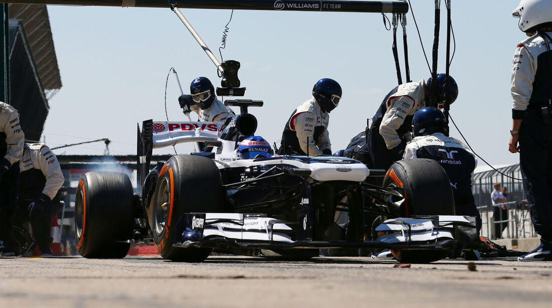 Williams - Boxenstopp - Formel 1 2013
