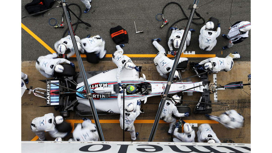 Williams - Boxenstopp - Formel 1 - 2015