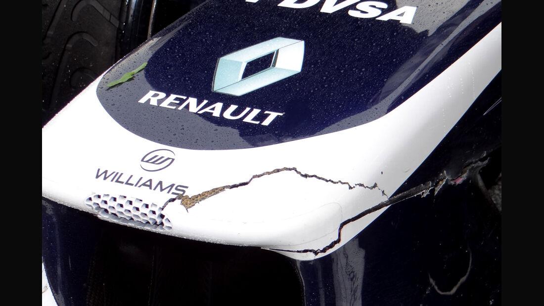 Williams F1 Renault Nase GP Malaysia 2013
