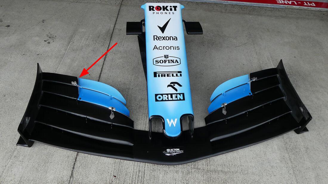 Williams - F1-Technik 2019 - Frontflügel