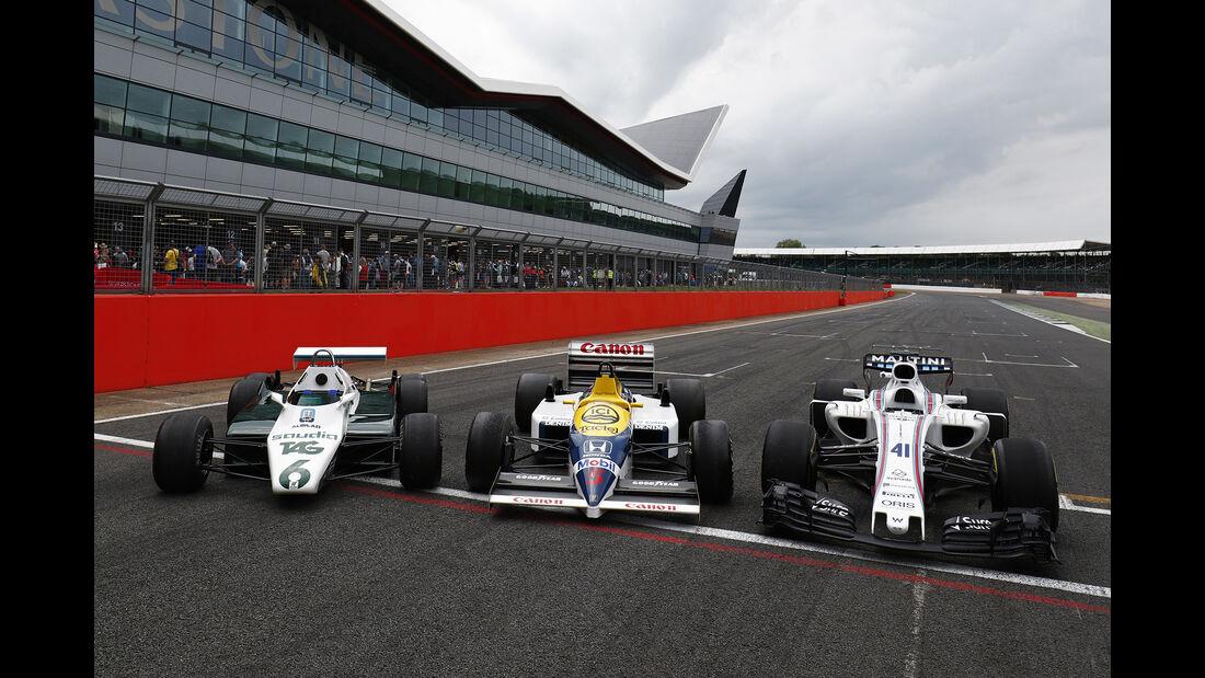 Williams FW08B & FW11 & FW40 - Jubiläum - Feier - Silverstone 2017