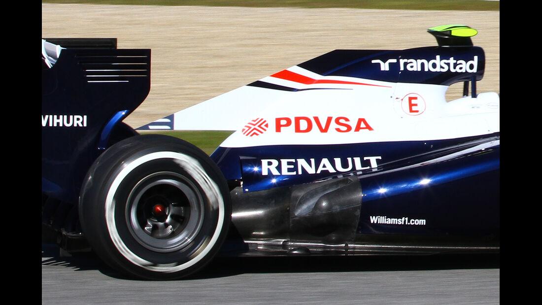 Williams FW34 Auspuff F1 2013