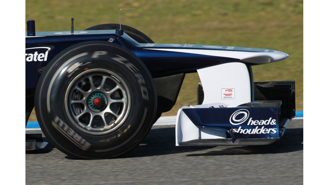 Williams FW34 Formel 1 Nase Jerez 2012