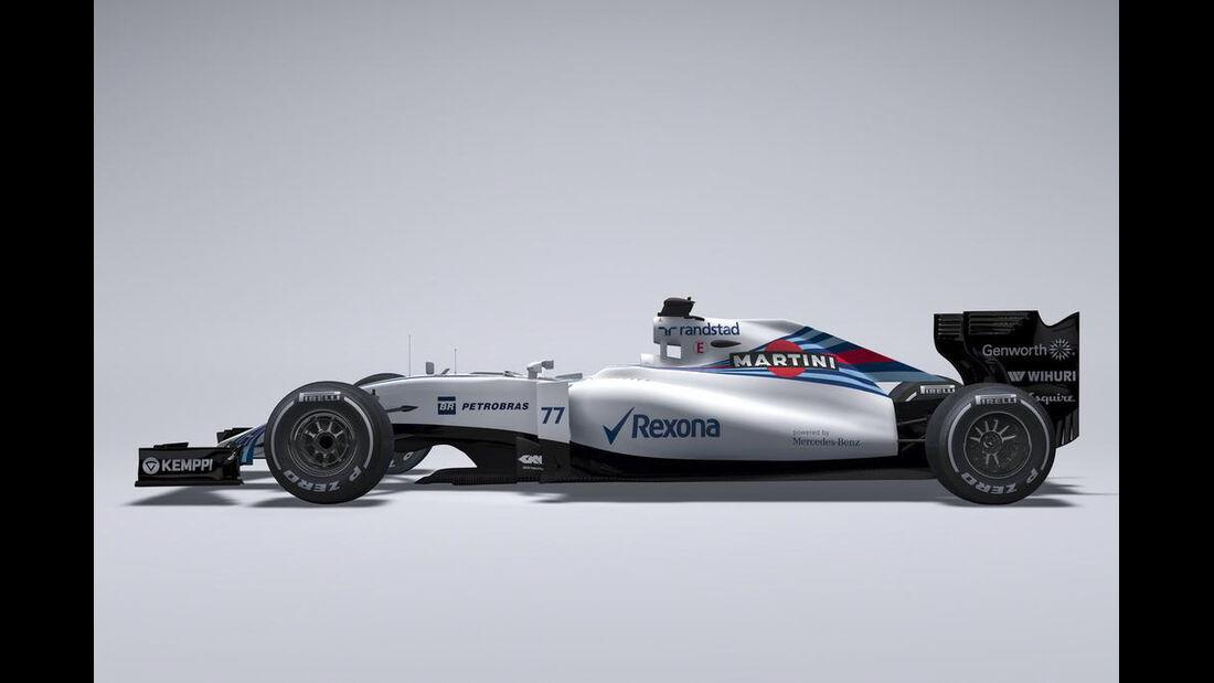 Williams FW37 - CGI Grafik - 2015