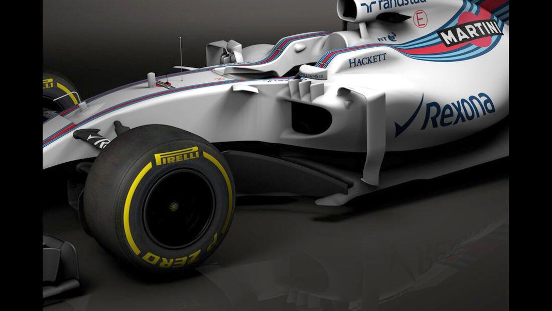 Williams FW40 - Grafiken - Formel 1 - 2017