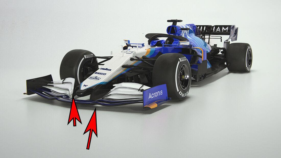 Williams FW43B - Formel 1 - Technik - 2021