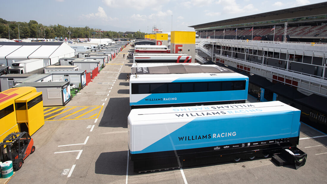 Williams - Fahrerlager - Formel 1 - GP Spanien - Barcelona - Donnerstag - 13. August 2020