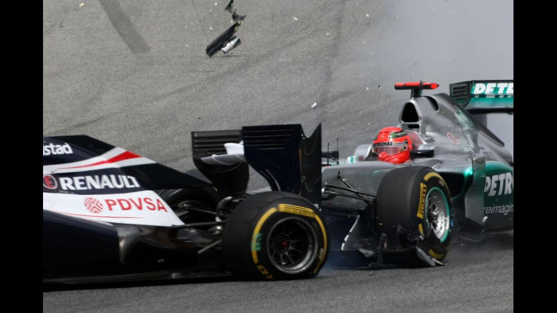 Williams Feuer GP Spanien 2012