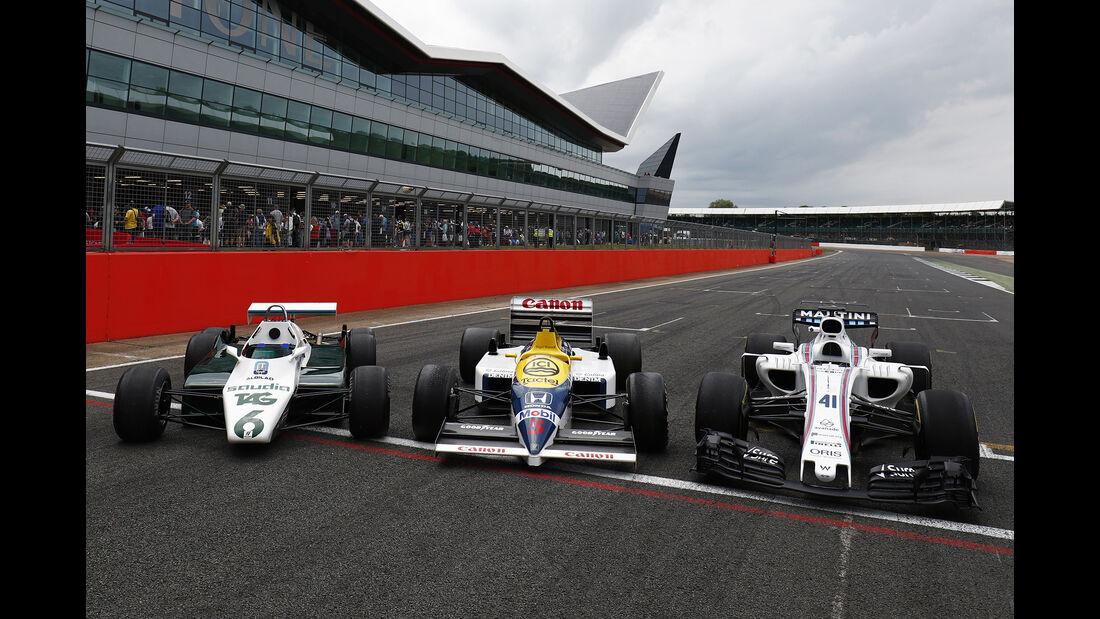 Williams Ford FW08B, Williams Honda FW11 & Williams Mercedes FW40 - Williams-Jubiläum - Silverstone - 2017