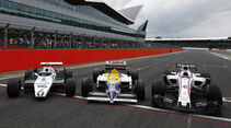 Williams Ford FW08B, Williams Honda FW11 & Williams Mercedes FW40 - Williams-Jubiläum - Silverstone - 2017