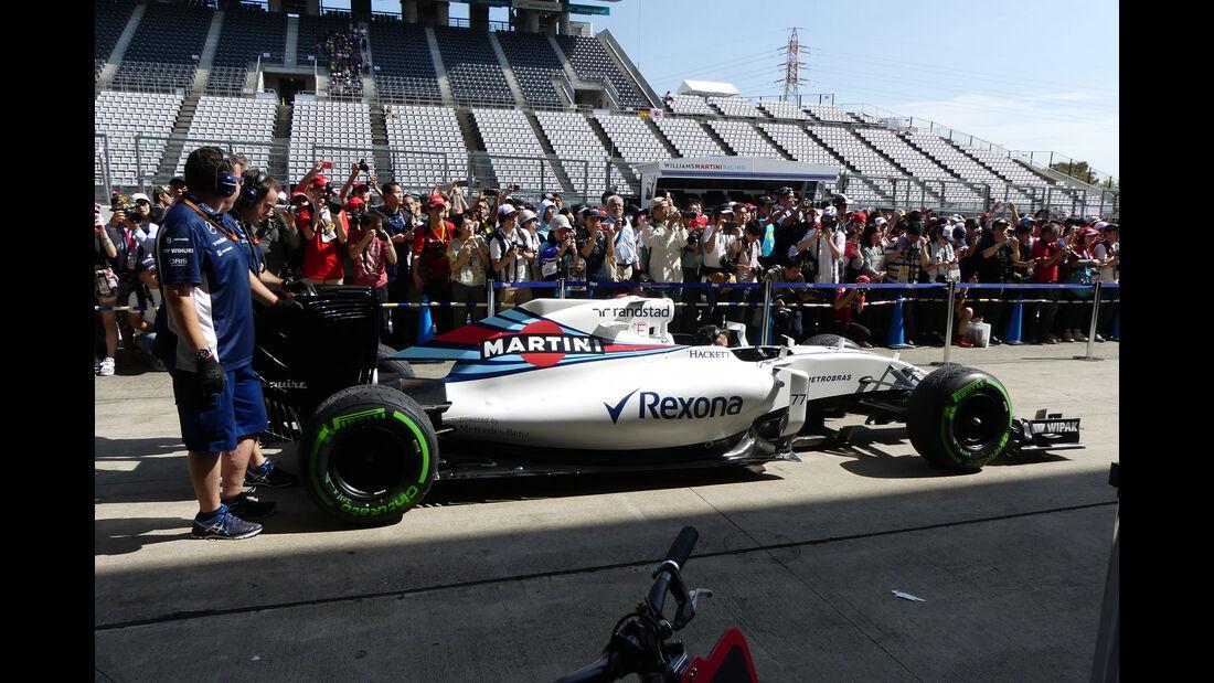 Williams - Formel 1 - GP Japan - Suzuka - Donnerstag - 6.10.2016