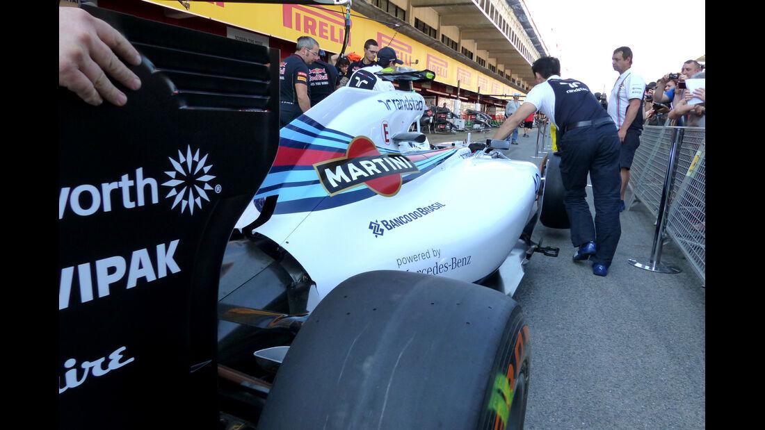 Williams - Formel 1 - GP Spanien - Barcelona - 8. Mai 2014