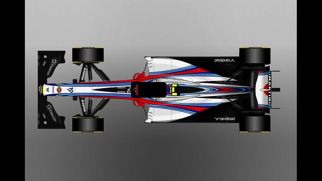Williams - Formel 1 - Lackierung - Design-Concept