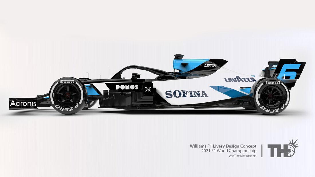 Williams - Formel 1 - Livery-Concept 2021 - Tim Holmes Design
