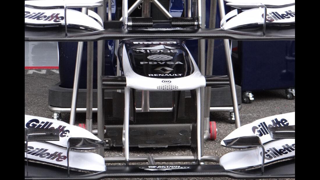 Williams Frontflügel - Formel 1 - GP Deutschland - 20. Juli 2012