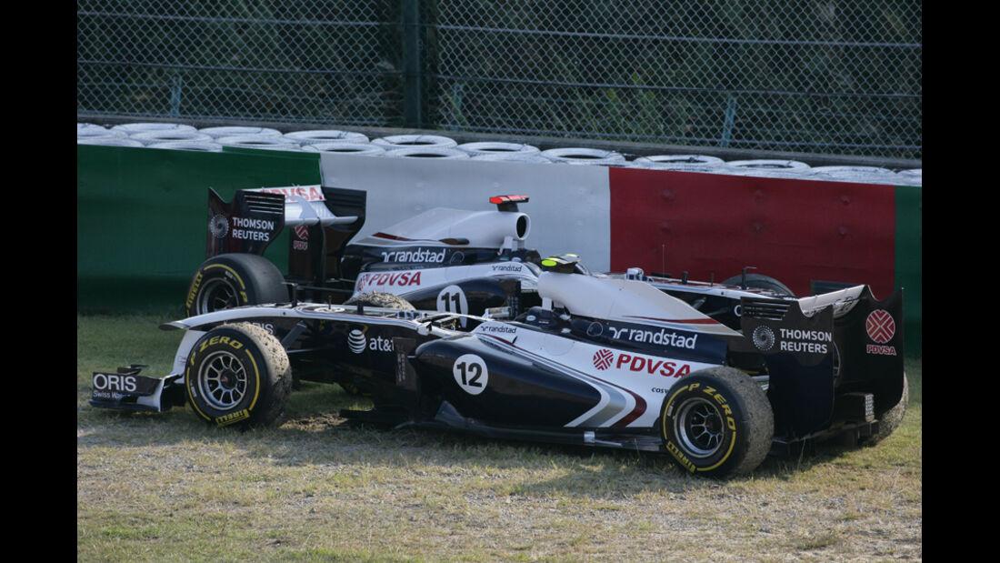Williams GP Japan Crashs 2011