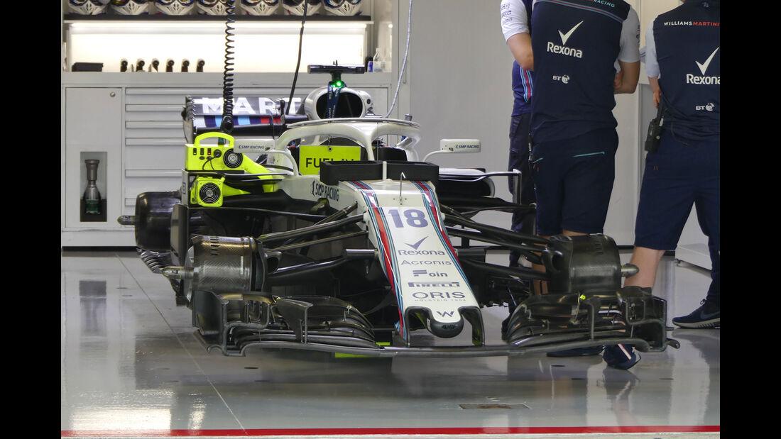 Williams - GP Japan - Suzuka - Formel 1 - Freitag - 5.10.2018