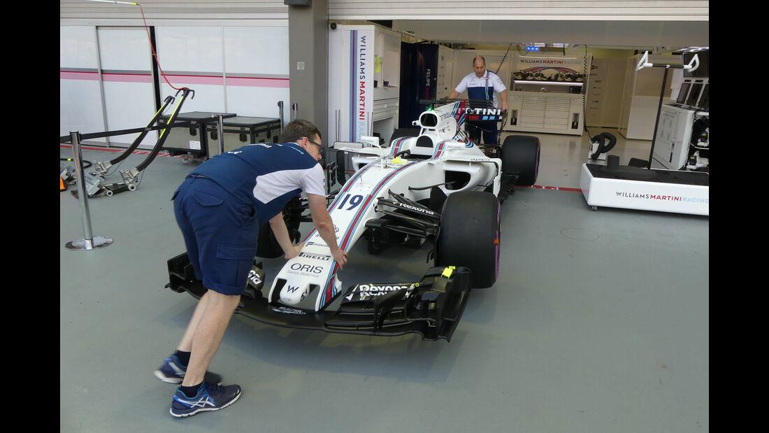 Williams - GP Singapur - Formel 1 - Donnerstag - 14.9.2017