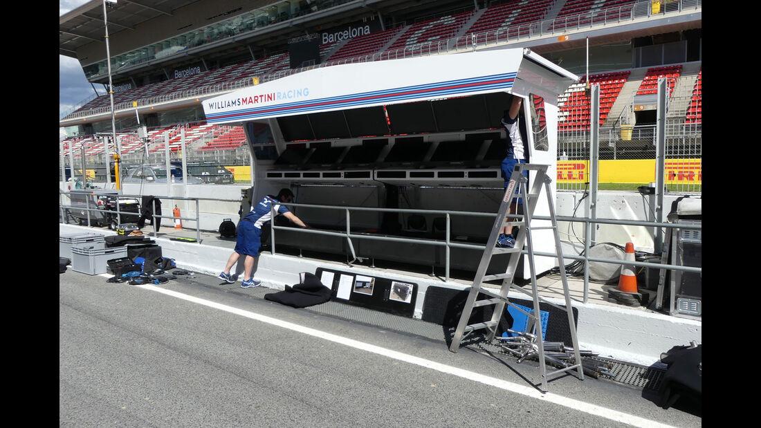 Williams - GP Spanien - Circuit de Barcelona-Catalunya - Mittwoch - 11. Mai 2016