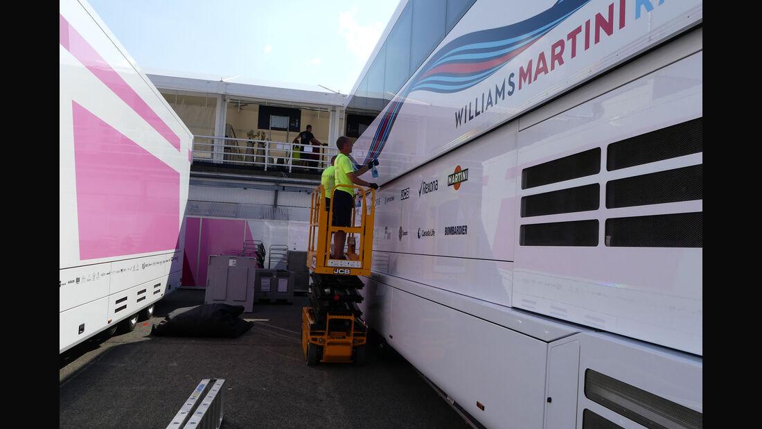 Williams - GP Ungarn - Budapest - Formel 1 - Mittwoch - 25.7.2018