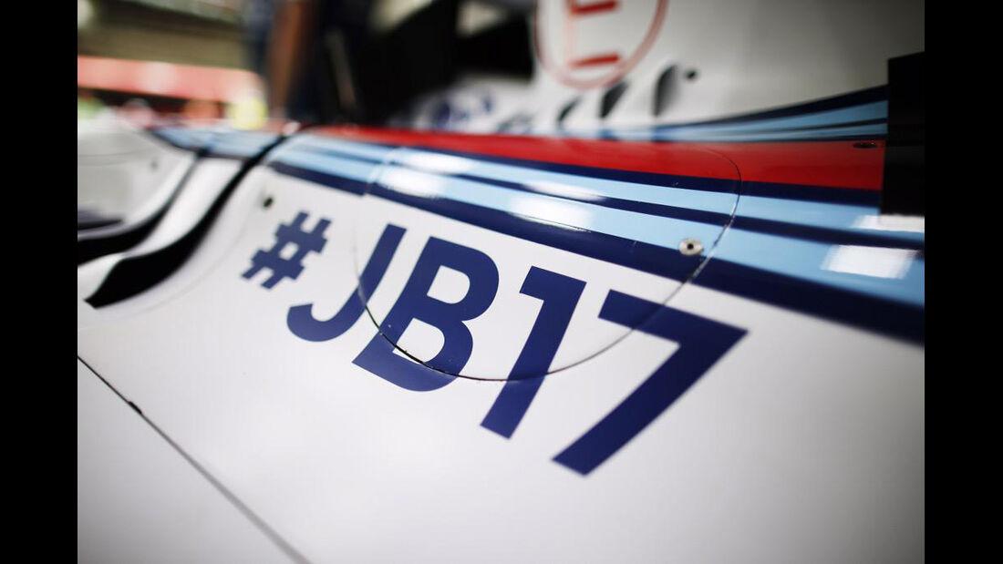 Williams - Jules Bianchi-Aufkleber - GP Ungarn 2015