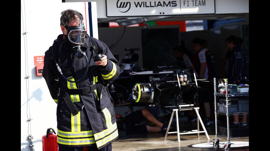 Williams KERS-Feuer - Formel 1 - GP Deutschland - 6. Juli 2013