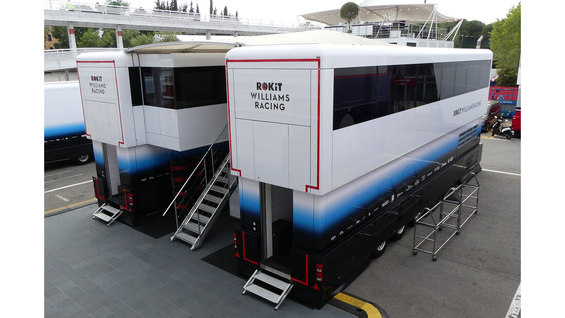 Williams - Motorhomes - Formel 1 - GP Spanien 2019