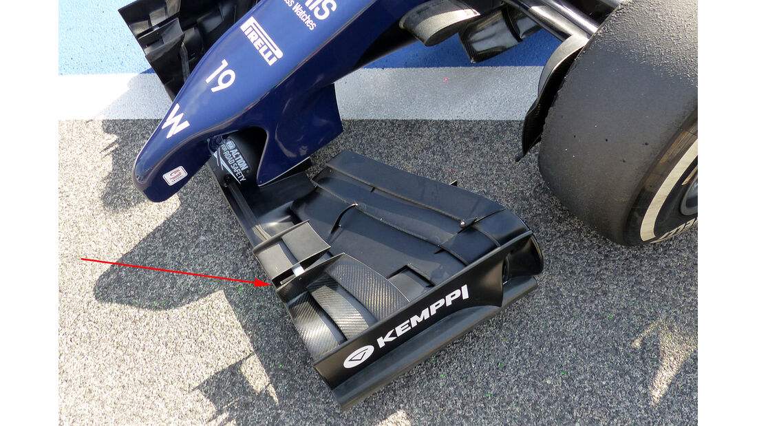 Williams - Technik - Bahrain Test 2 - 2014
